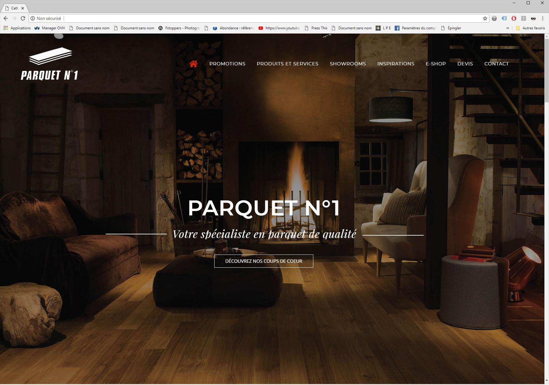 Création du Site Internet Parquet n°1